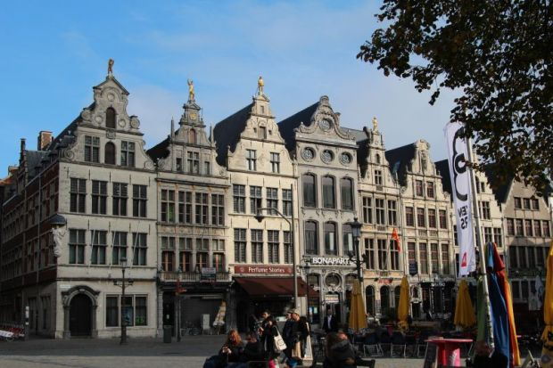 Antwerp, Belgium: old town guildhouses