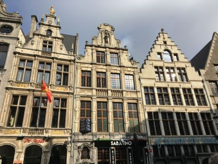 River cruising through Belgium and the Netherlands: Antwerp guildhouses