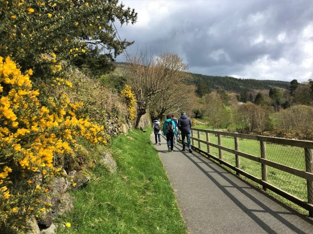 Hikers in Glendalough, Wicklow Mountains