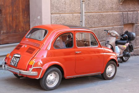 Fiat 500 in Brisighella, Italy