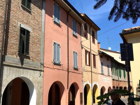 Quiet street in Fontanellato, Emilia Romagna