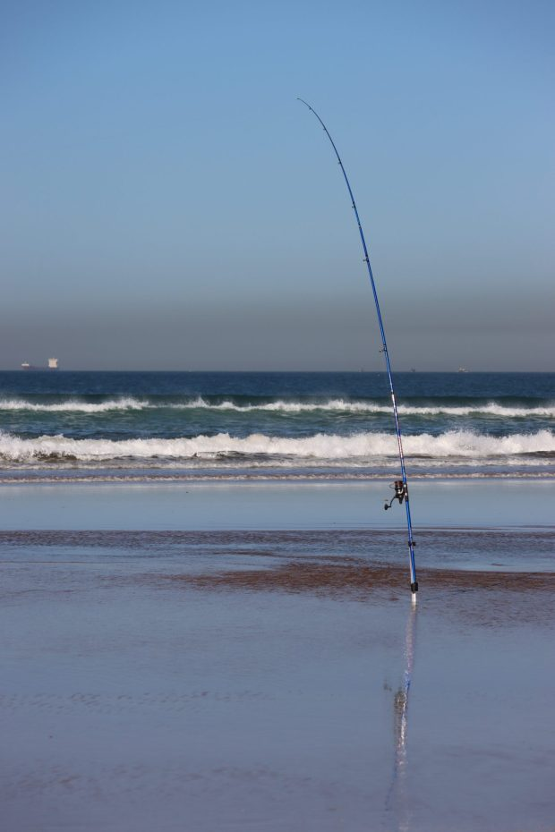 Angling from the beach