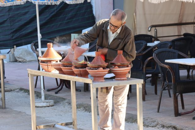 Preparing tagine in Talborjt, Agadir