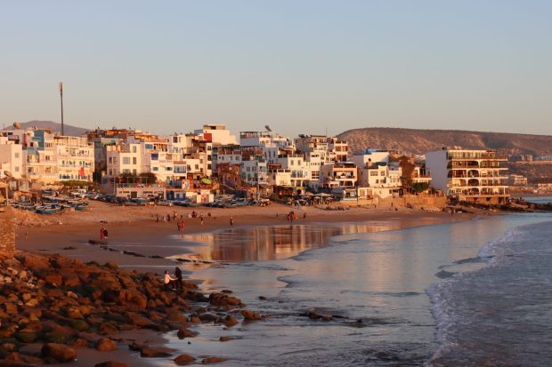 Taghazout, fishing village north of Agadir