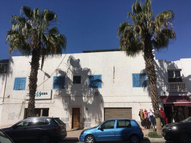 White building style of Agadir, Morocco