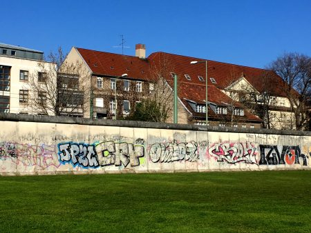Berlin Wall north of the city center
