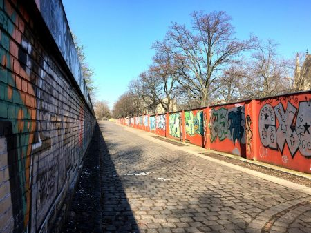 In the Berlin Wall area