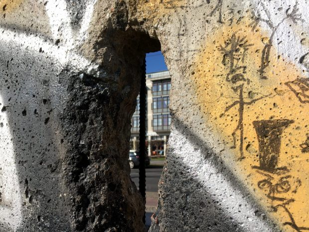 Looking through the Berlin Wall