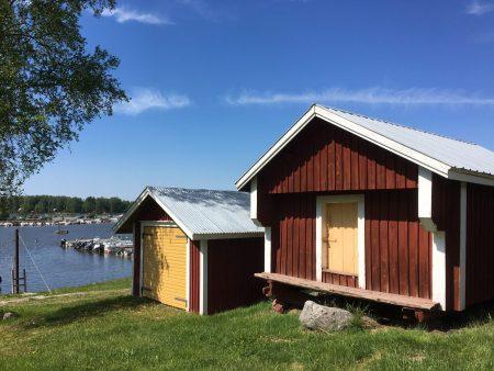 Boat sheds in Strömsö, north of Vasa, Finland