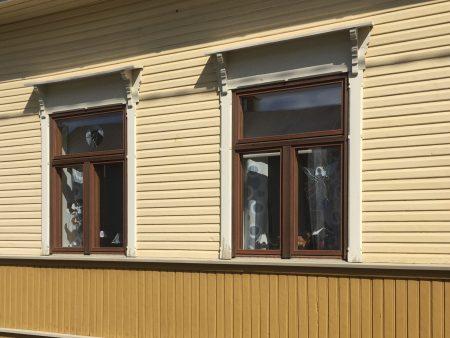 Kaskö windows, Ostrobothnia, Finland