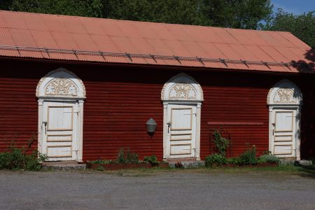 White doors, Strömsö, Finland