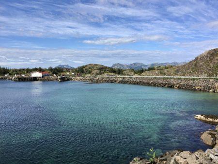 Blue waters of Henningsvær, Lofoten Islands