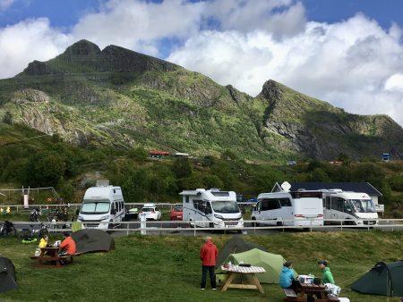 Moskenes Camping, Lofoten by motorhome