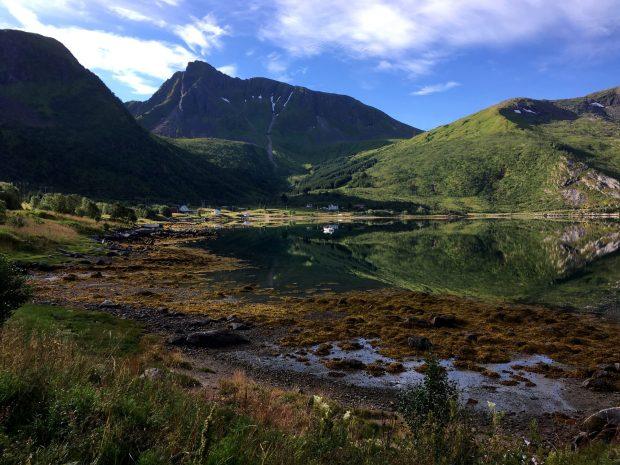 Motorhome drive through the Lofoten Islands: a Lofoten village