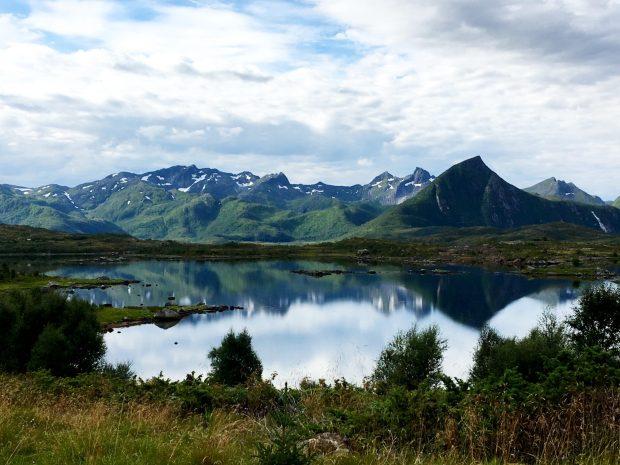 Norway by motorhome: typical Lofoten scenery