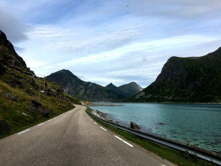 Spectacular drive through the Lofoten Islands