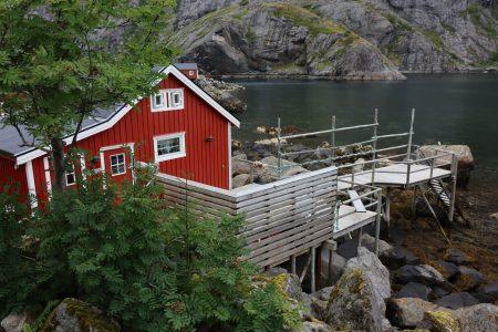 Nusfjord fishing hut on poles, Lofoten