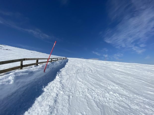 Arctic beauty: snowdrifts on the fell