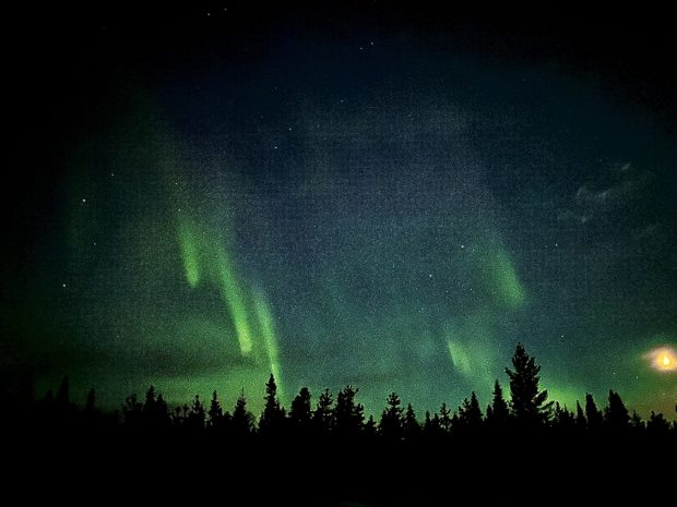Arctic Lapland spring: northern lights and stars