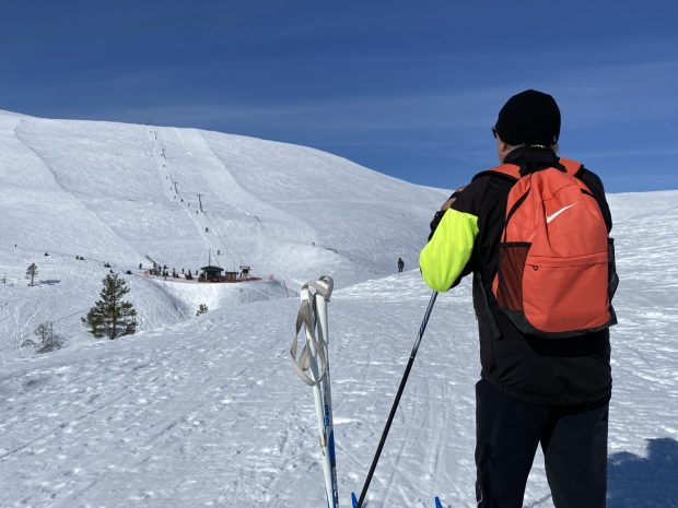 Skiing in the fells, Pallas, Lapland
