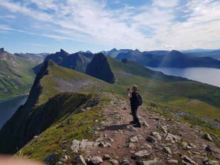 Norway by motorhome: on the top of Husfjellet, Senja