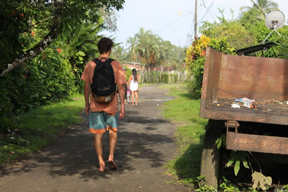 dirt roads, walking barefoot, exploring