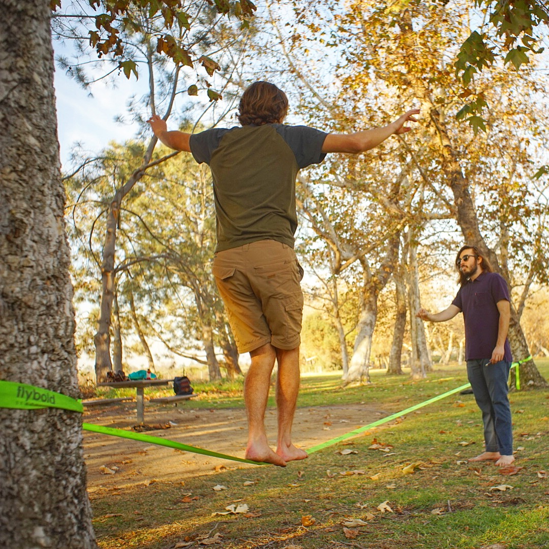 slacklining in nature!