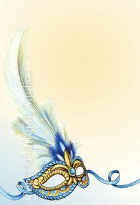 Blue Amp Gold Masquerade Invitations Routh Studios LLC