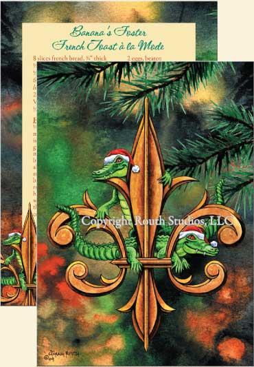 Fleur De Lis Amp Christmas Gators Christmas Cards C09B