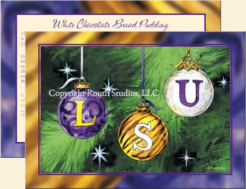 LSU Christmas Ornaments Christmas Cards C11LSU Routh