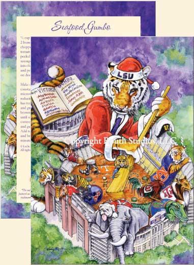 LSU Christmas Victory Gumbo Christmas Cards C12LSU