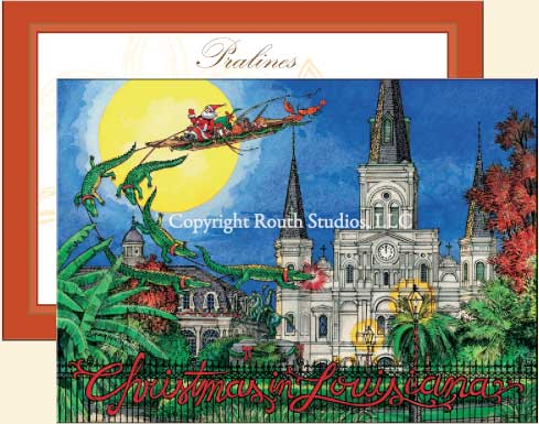 Jackson Square Christmas Cards C0A Routh Studios LLC