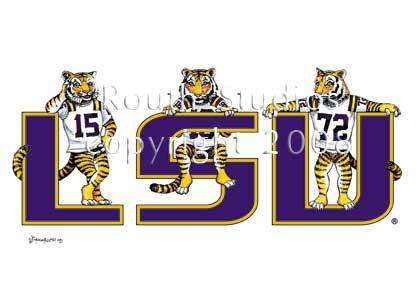 LSU Tigers Routh Studios LLC