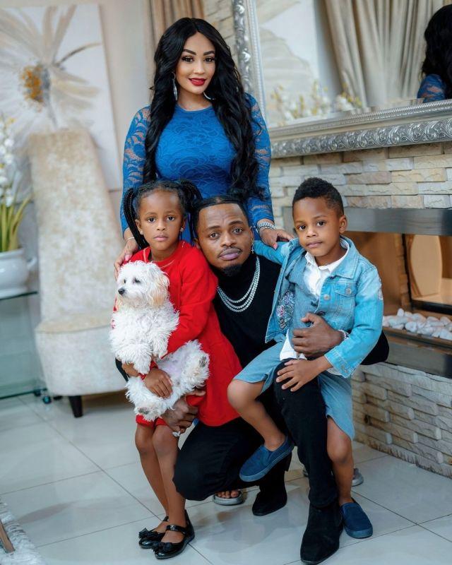 Diamond Platnumz and Zari with their children; Prince Nillan and Princess Tiffah