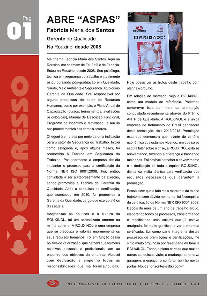 Jornal Expresso Rouxinol - Nº08 pag1