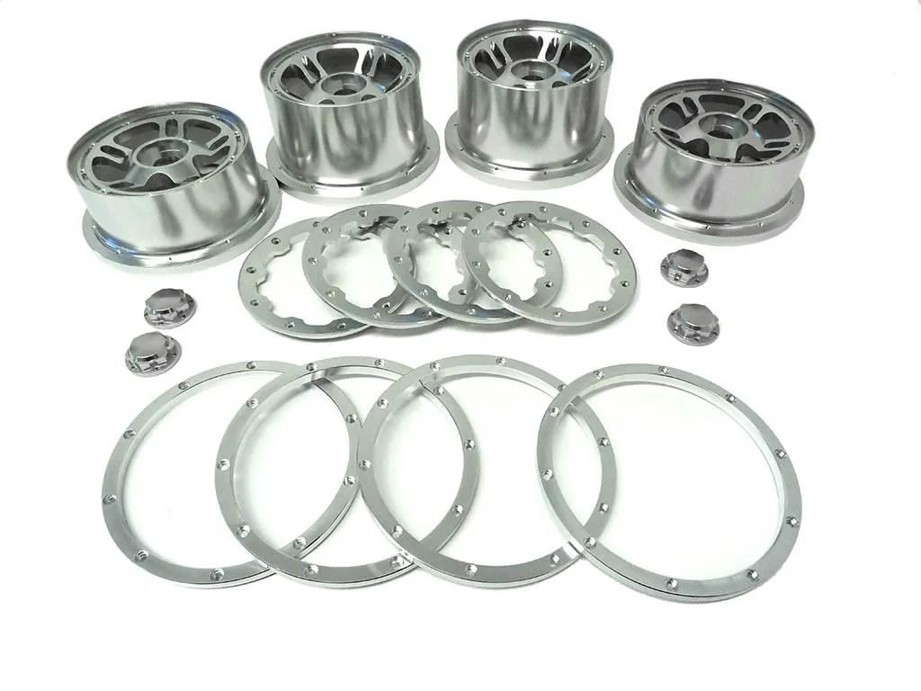1 5 Baja Silver Split 5 Spoke Cnc Aluminum Wheels Rims