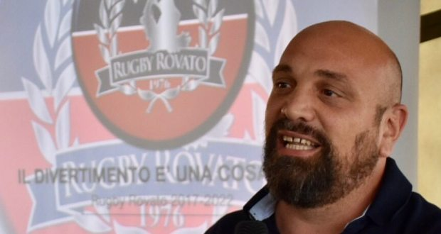 L'allenatore del Rugby Rovato Daniele Porrino