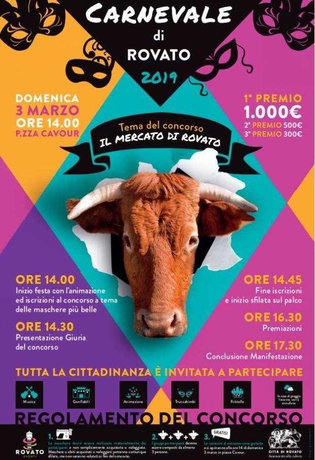 Il programma del Carnevale  a Rovato
