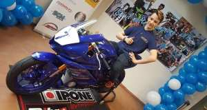 Il giovane motociclista Manuel Rocca