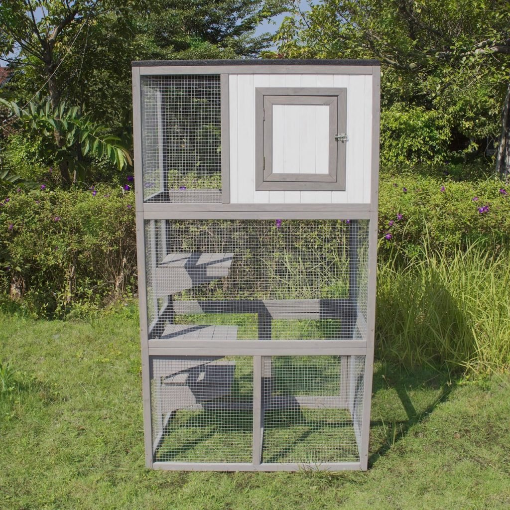 buy or make your own outdoor cat enclosure
