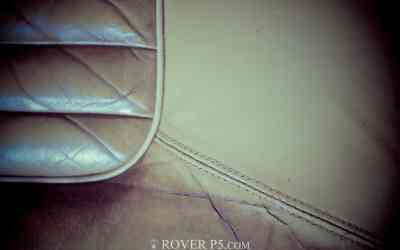 Cleaning Rover P5 Seats With Gliptone Leather Cleaner