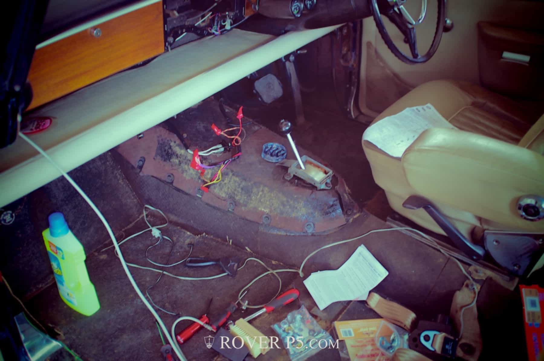 Stripping The Rover P5 and P5B Interior