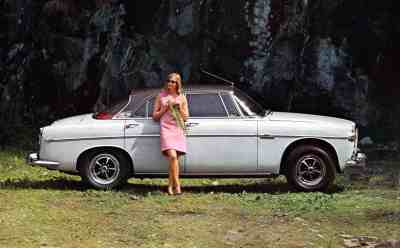 Brochure---1967---Rover---Image---White-Coupe-&-Woman