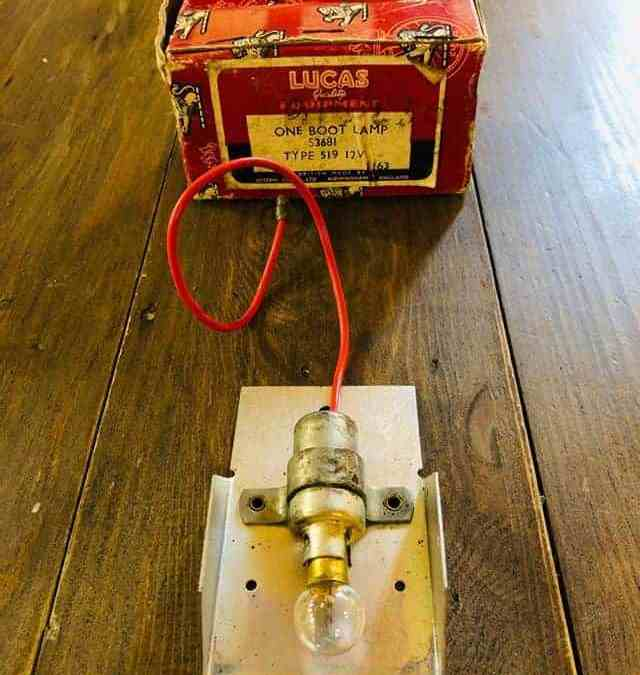 New Old Stock Lucas Boot Lamp for a Rover P5 and P5B. Amazing these things are still being found. Lovely packaging as well.