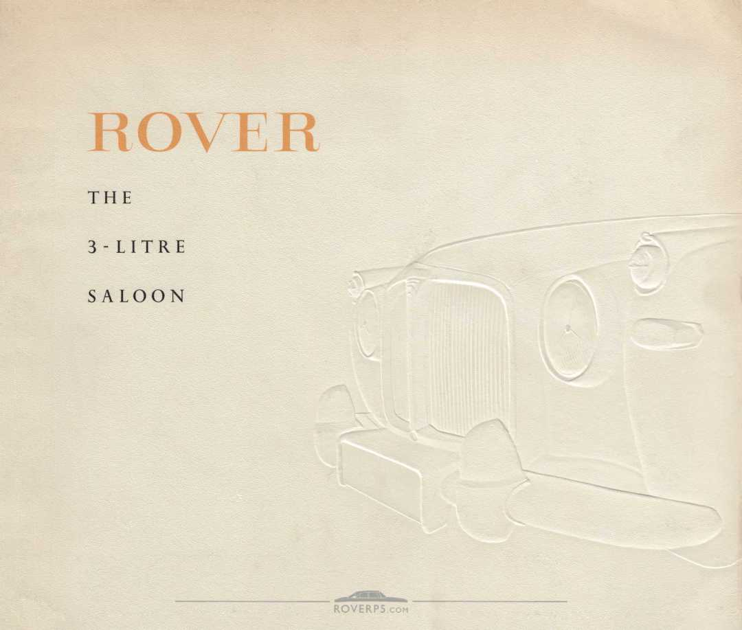 Brochure - 1959 - Rover The 3-Litre Saloon - Front Cover