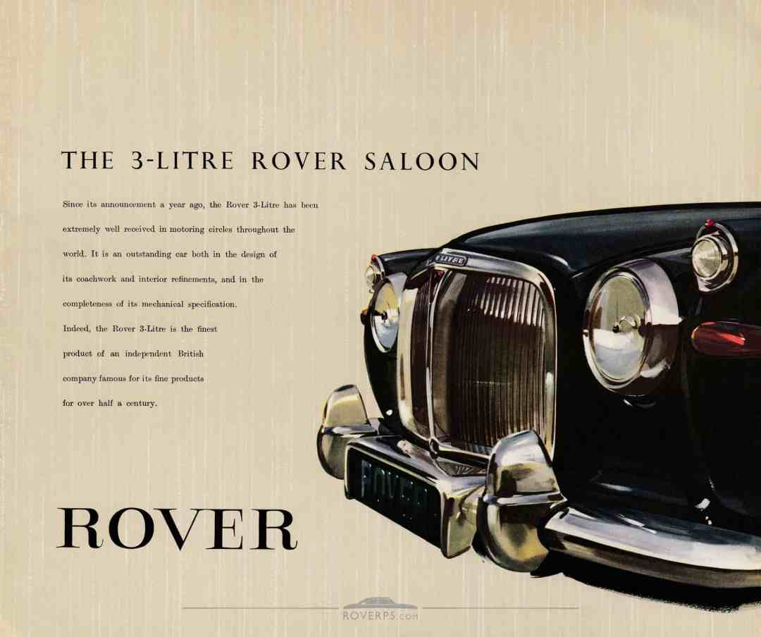 Brochure - 1959 - Rover The 3-Litre Saloon - Page 02