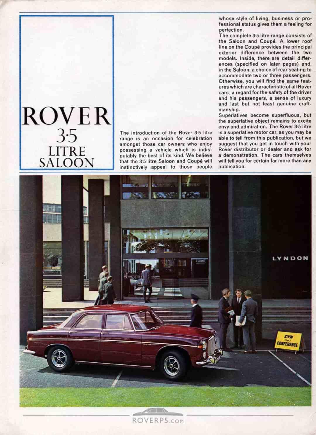 Brochure - 1967 - Rover - Page 01