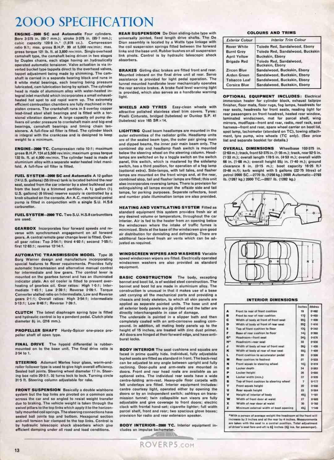 Brochure - 1968 - Rover - Page 13
