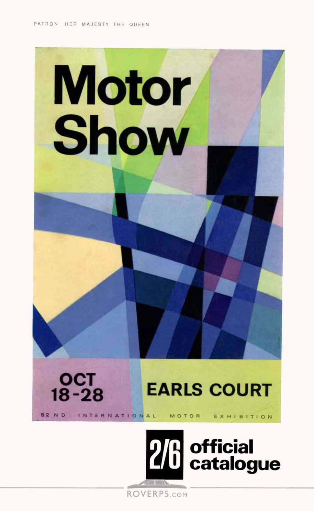 Catalogue - 196710 - Motor Show Guide - Front Cover (restored)