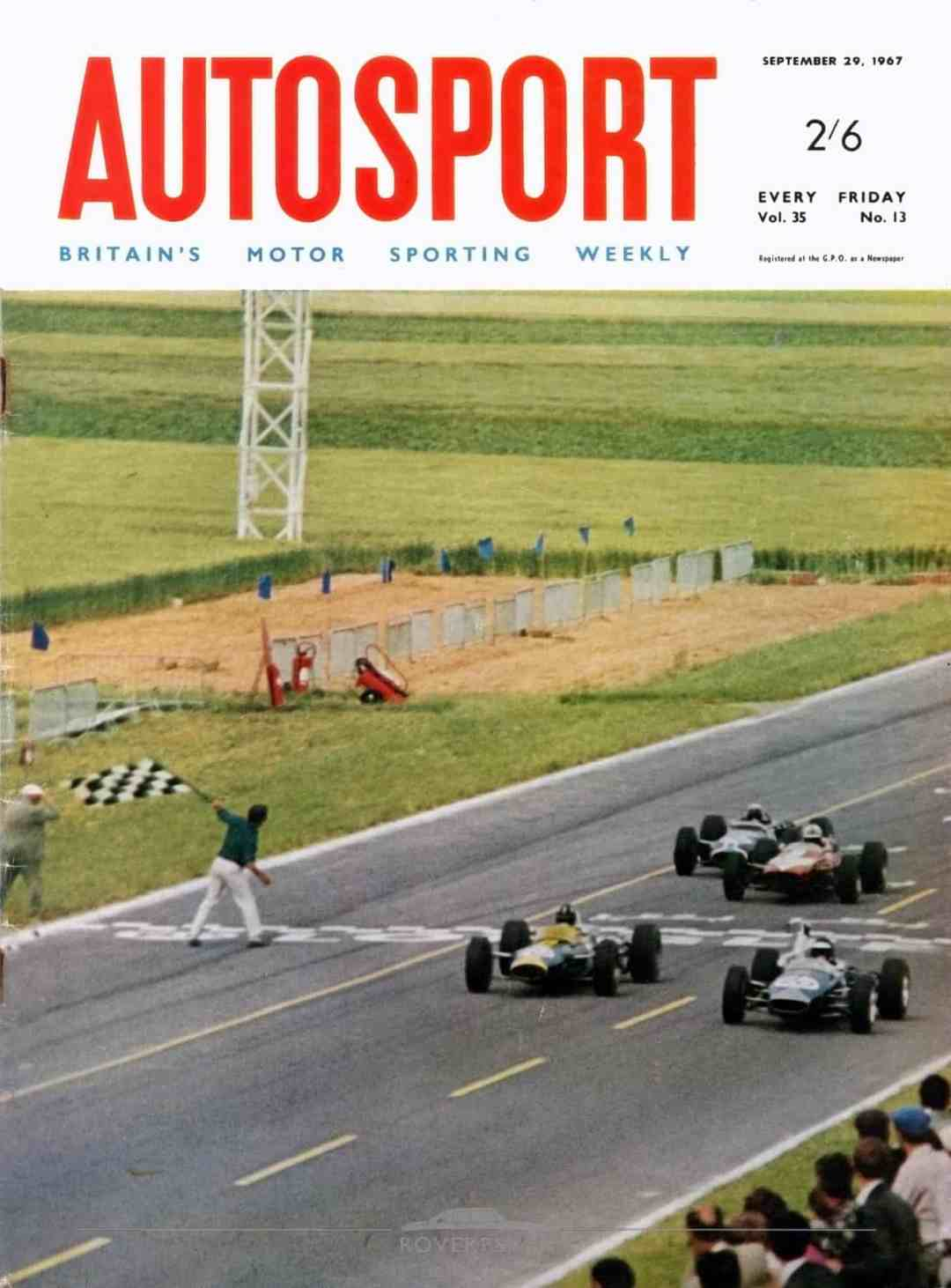 Magazine - 19670929 - Autosport - Front Cover (restored)